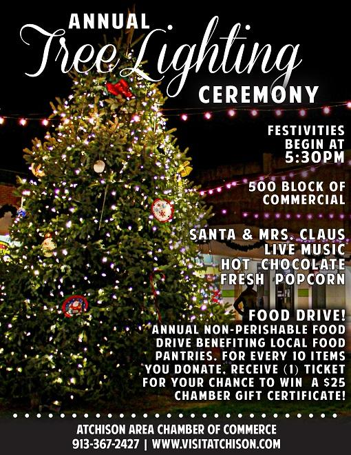 Singing Christmas Tree 2019.Christmas Tree Lighting In Atchinson Kids Out And About